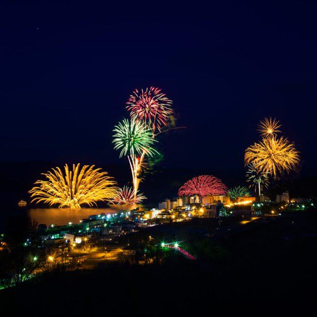 The 38th Lake Toyako Long Run Fireworks Display
